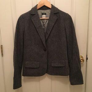 J Crew Wool Blend Blazer with Pockets